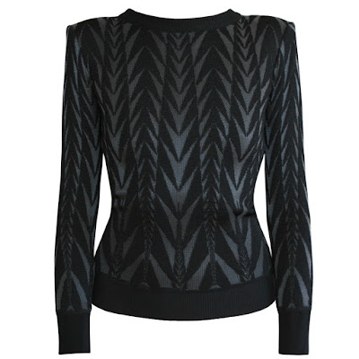 balmain pairs aarow knit sweater strong shoulder