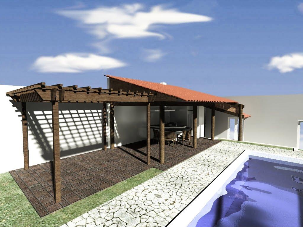 Ampliação Área de Lazer Residência Rib. Bonito 1 ~ arquitetura #9B4F30 1024 768