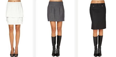 Faldas en color gris o negro