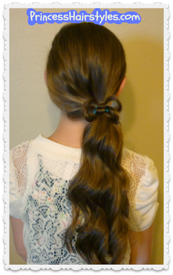 Easy hair bow ponytail video tutorial