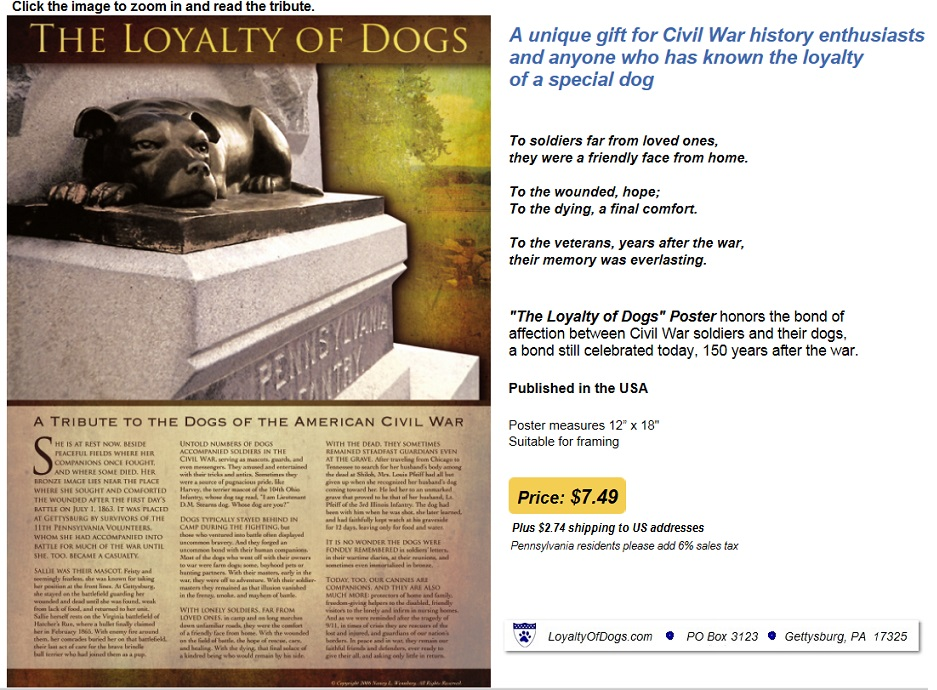 http://www.LoyaltyOfDogs.com/ReadPosterTribute.htm