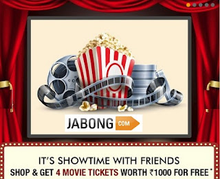 Shop worth Rs.1999 or above at Jabong & Get 4 Movie Tickets worth Rs.1000 for Free
