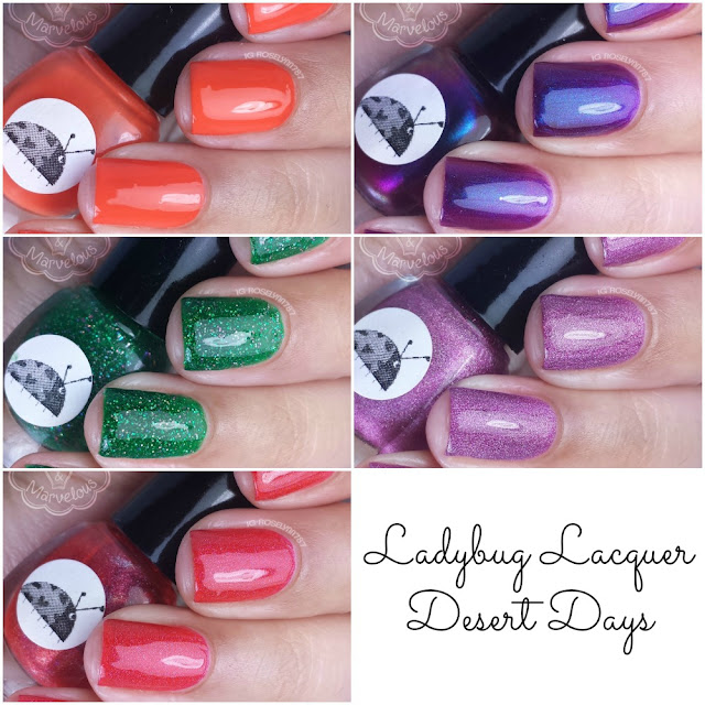 Ladybug Lacquer - Desert Days Swatches & Review