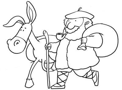 Dibujos Para Colorear Navidad Olentzero – Madebymcl