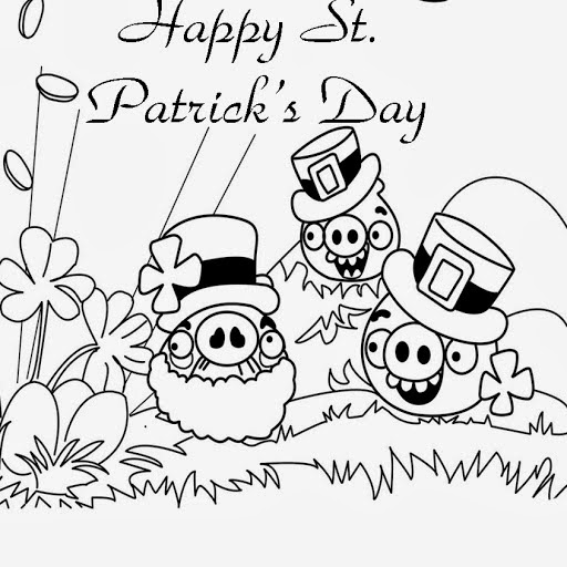 Happy Saint Patrick's Day for Coloring, part 2