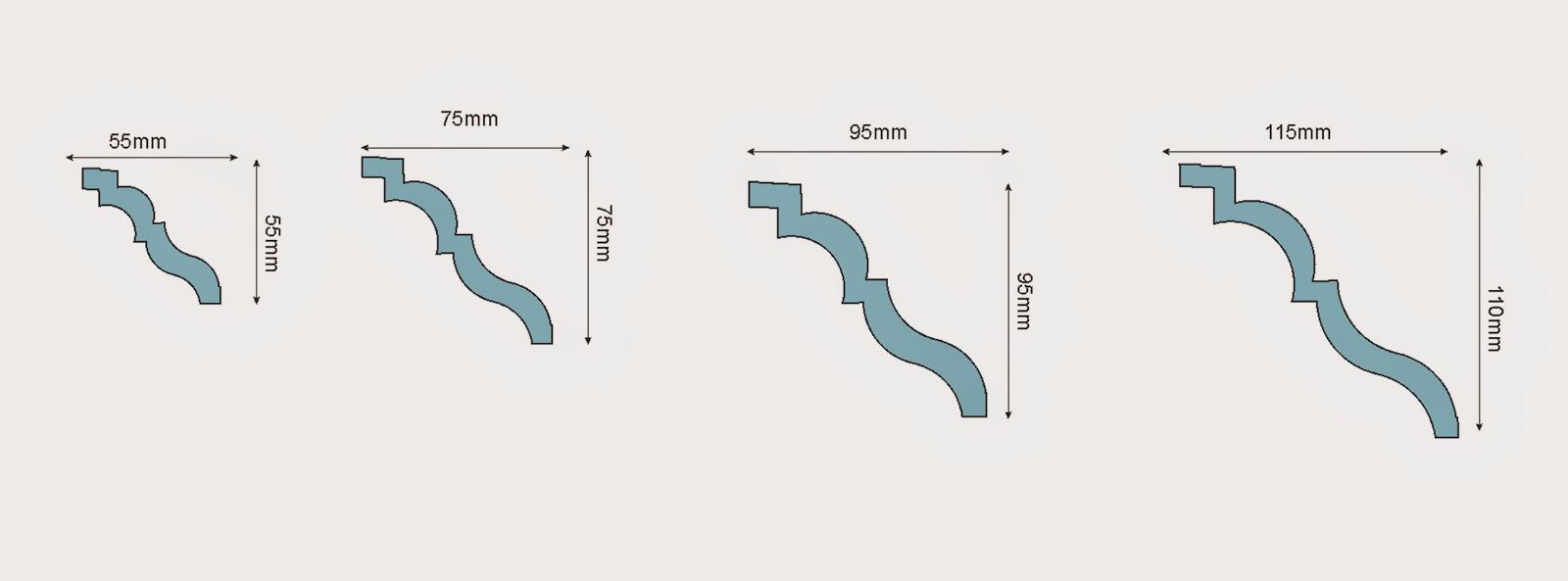 dimensiuni baghete polistiren pentru tavan la interior casa