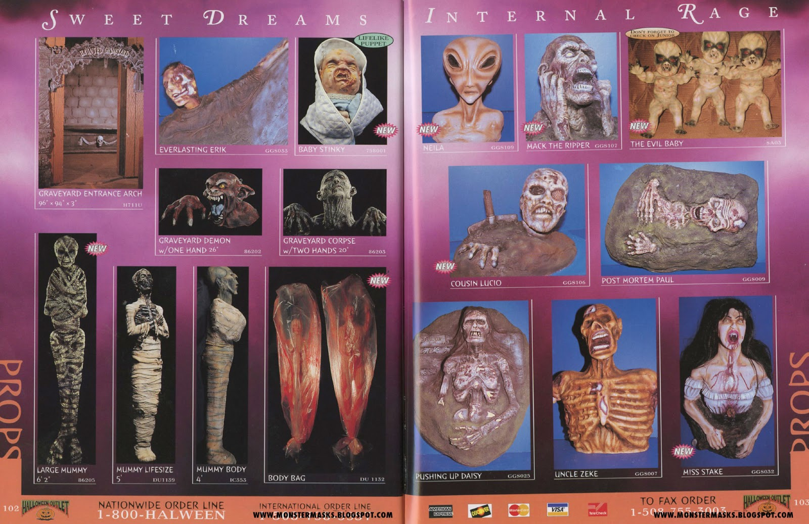 1996 halloween outlet catalog - part 6 | blood curdling blog of
