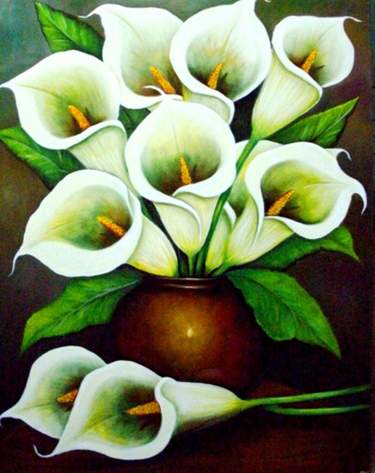 jarrones con bellas flores pintadas en leo cuadro de flores flores en jarrones pintado en leo sobre lienzo pinturas de flores bodegones con flores