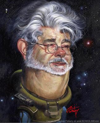 """George Lucas"" por Thomas Fluharty"