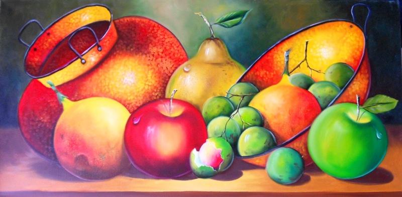 Pintura Moderna y Fotografía Artística : Frutas Pintadas en Cuadros ...