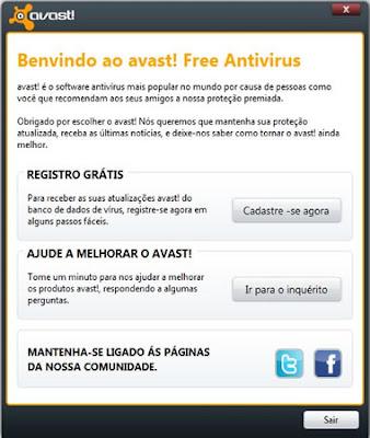 regristrar gratis no avast free antivirus