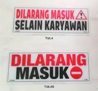 sign label