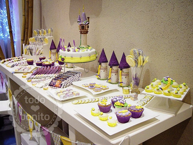 Decoracion De Rapunzel Para Fiestas Infantiles ~ Natali s cooking Ideas para preparar una fiesta Rapunzel
