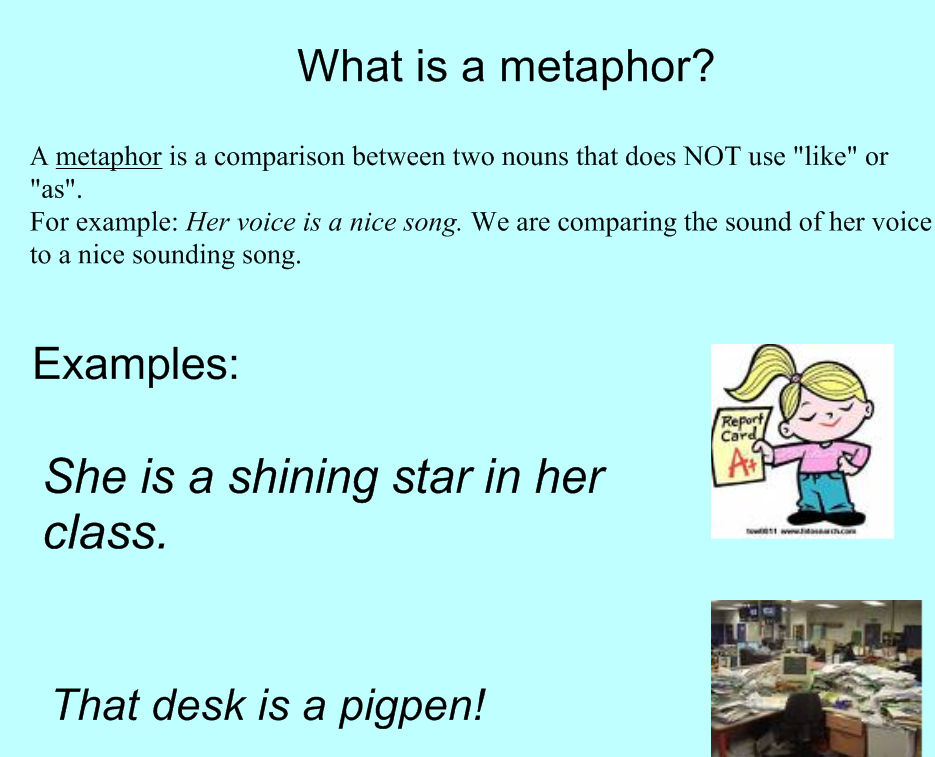 Help writing a metaphor essay?