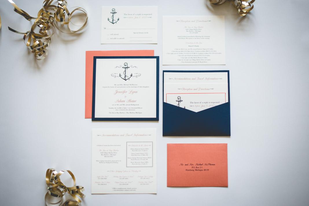 Vivian Elle Invitations Jennifer and Adams Nautical Wedding – Nautical Wedding Invite