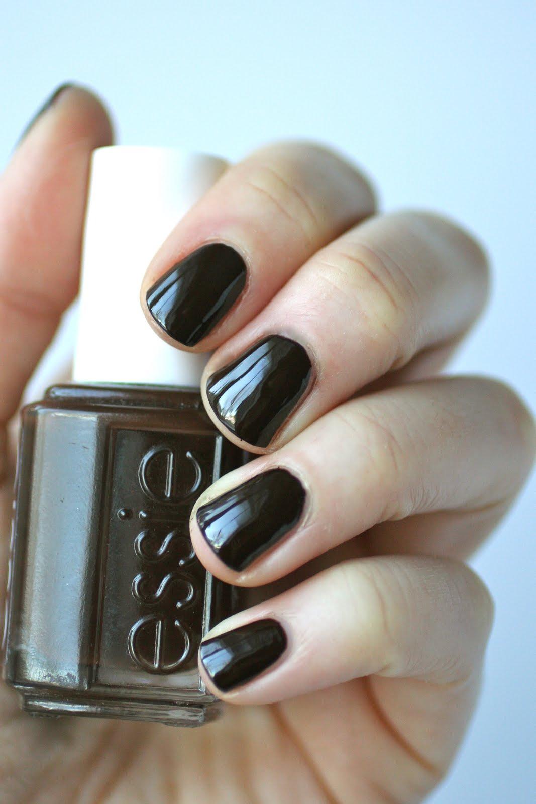 Essie Dark Brown Comparison : Little Brown Dress vs. Partner in ...