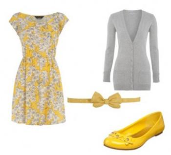 Estamos claros que outfits con el color amarillo for Colores para combinar con gris