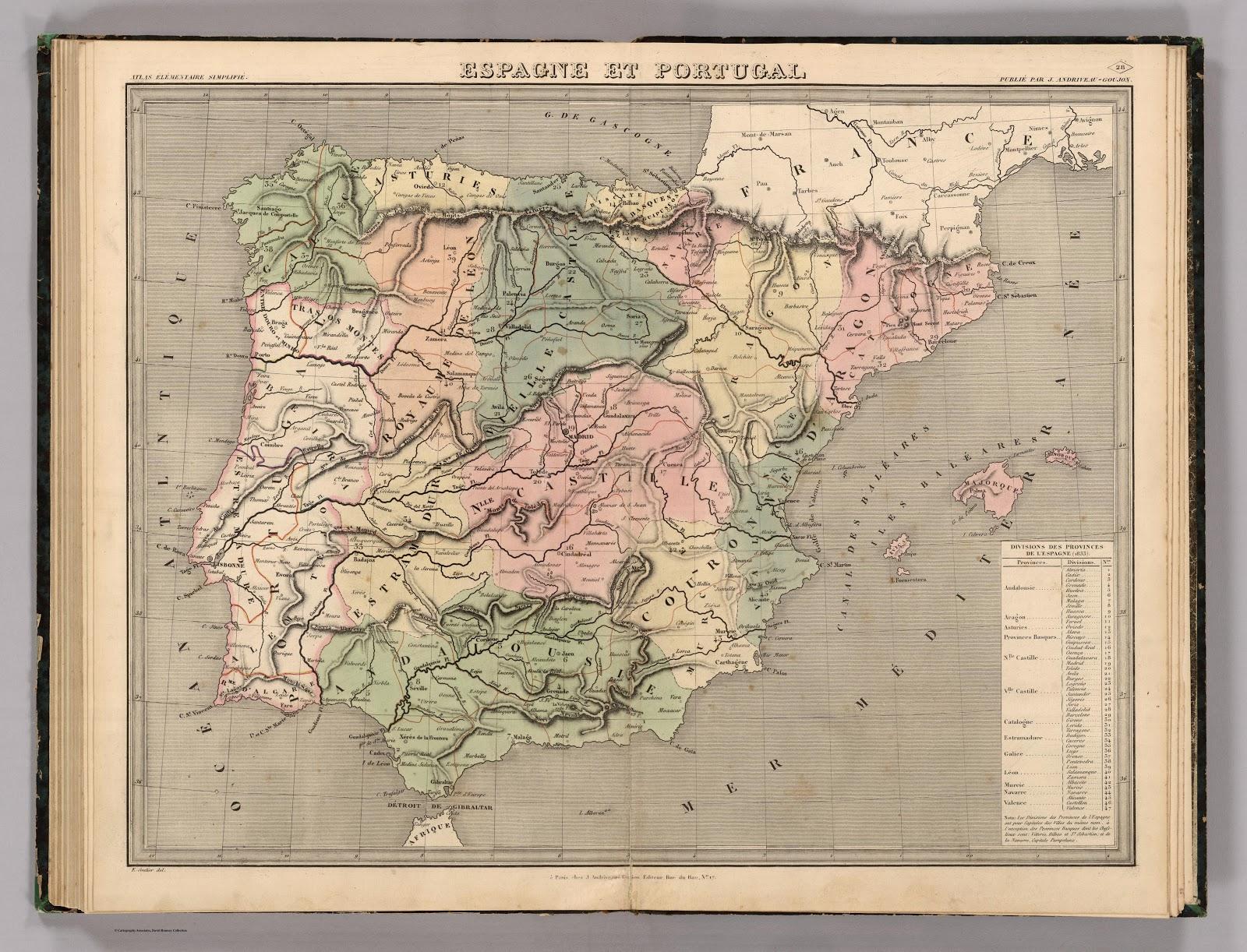 España y Portugal 1838 J. Andriveau y J. Goujon