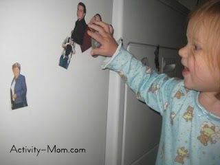 Family magnets are a great way to teach children about their family members and body parts