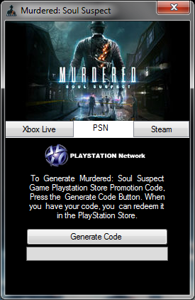 Murdered: Soul Suspect Keygen PS3/PS4