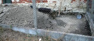 He's dug a big hole today