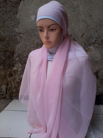 Model Pashmina Sifon Polos Grosir