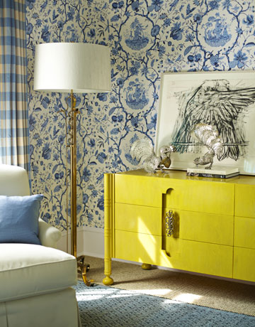Curtains Ideas chinoiserie curtains : Chinoiserie Chic: Blue and Yellow Chinoiserie