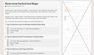 Macam-macam Tag Kondisional Blogger
