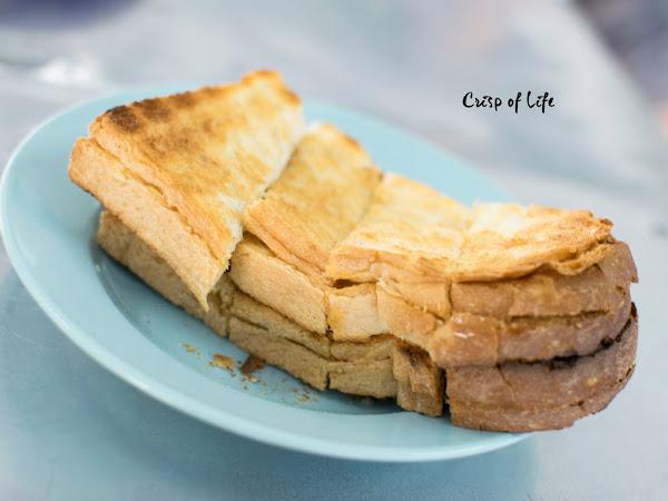 Toast with homemade kaya and coffee @ Ah Wang cafeteria, Penang
