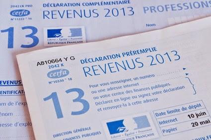 Impots sur les revenus 2013