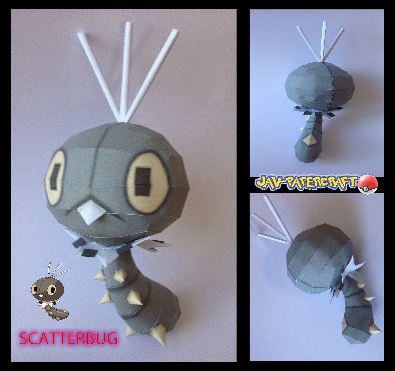 Pokemon Scatterbug Papercraft