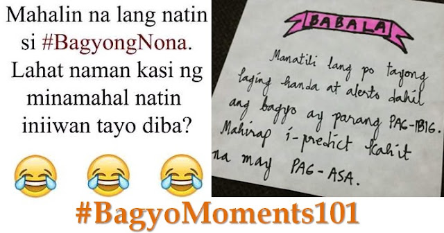 Netizens flood Twitter with their #BagyoMoments101