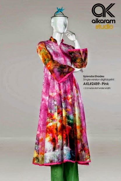 Alkaram Digital Printed Lawn Frocks