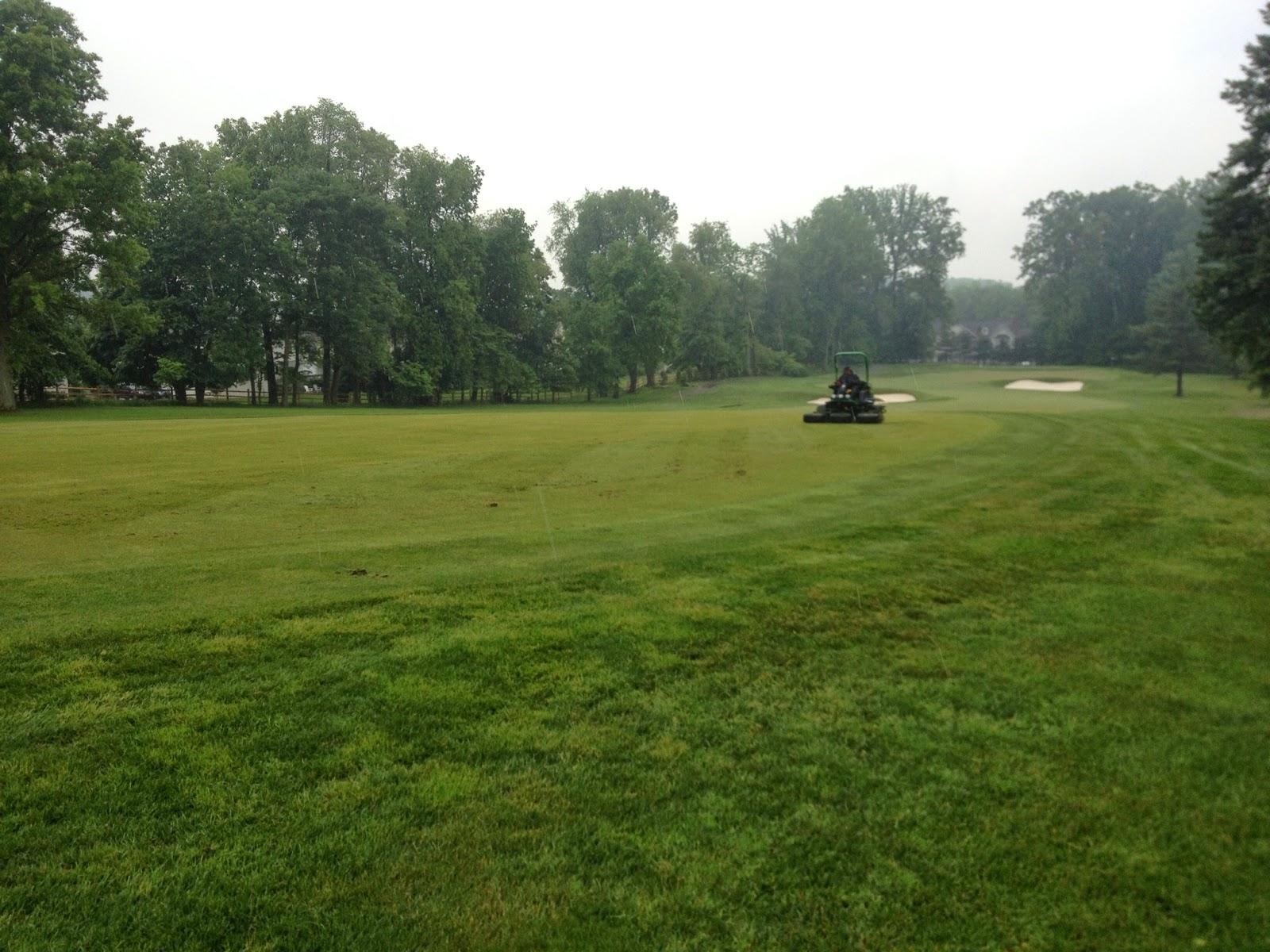 Golf Course Maintenance Verticutting Fairways