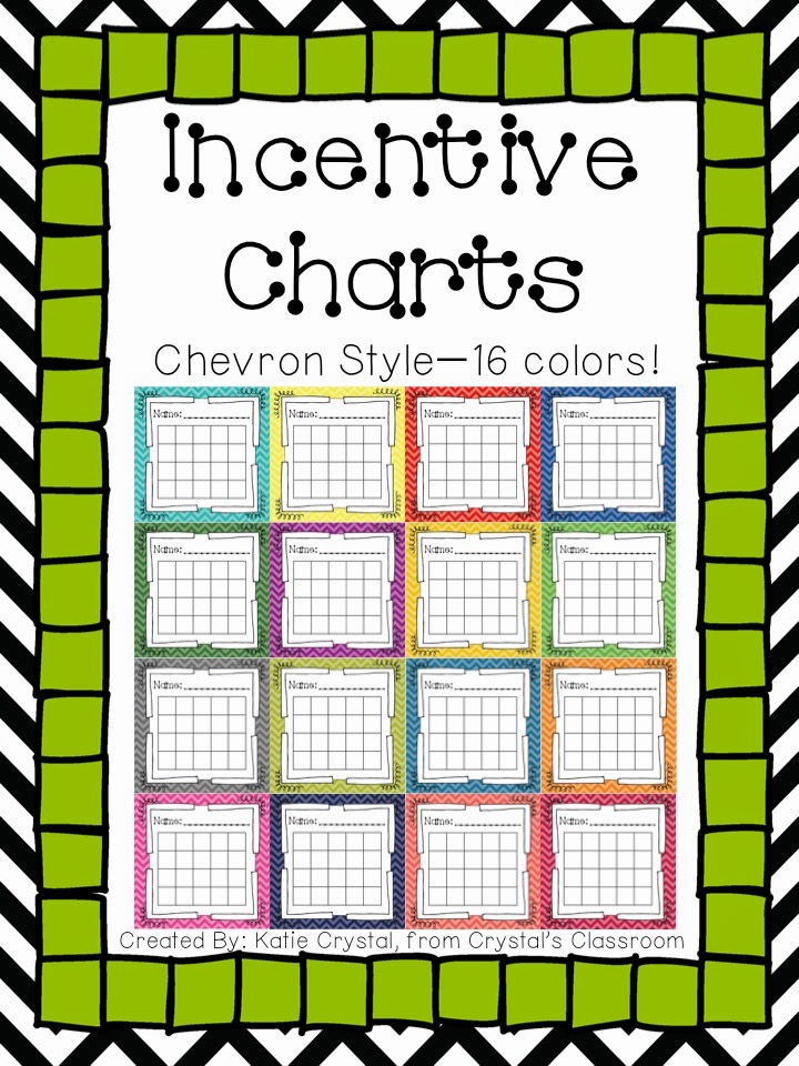 Design Of Classroom Charts : Crystal s classroom incentive charts