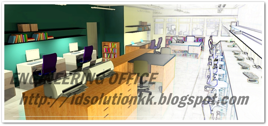 Interior design kota kinabalu engineering office Home furniture kota kinabalu