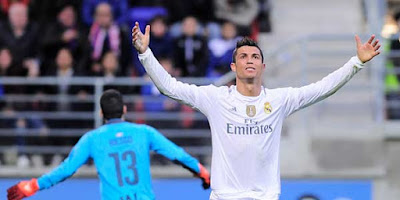 Ronaldo Cetak Gol, Madrid Bekuk Eibar