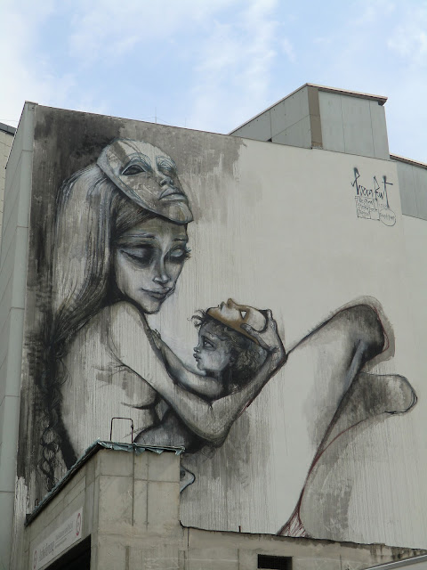 Street Art By Herakut In Frankfurt For The Giant Story Book Project - Progress Shot 2
