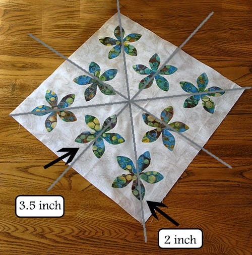 placing flowers on fabric