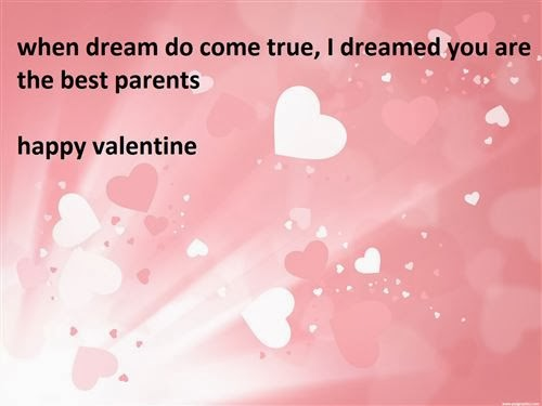 Free Valentine's Day 2014 Poems For Parents From Child