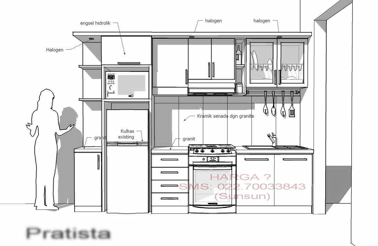 Mebel minimalis for Ukuran kitchen set