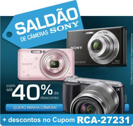 Cupom Efácil - Saldão de Câmeras Sony