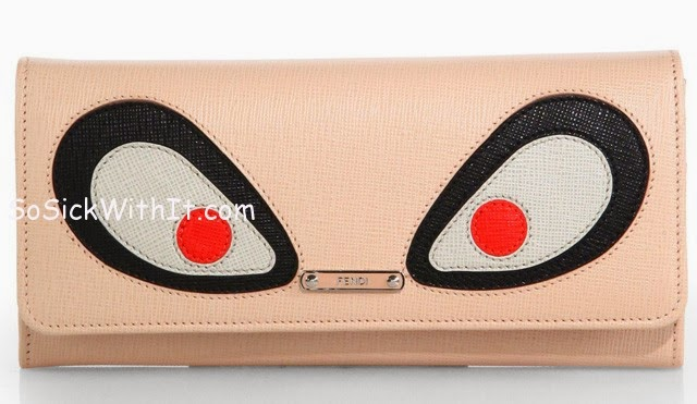 fendi monster-face wallet