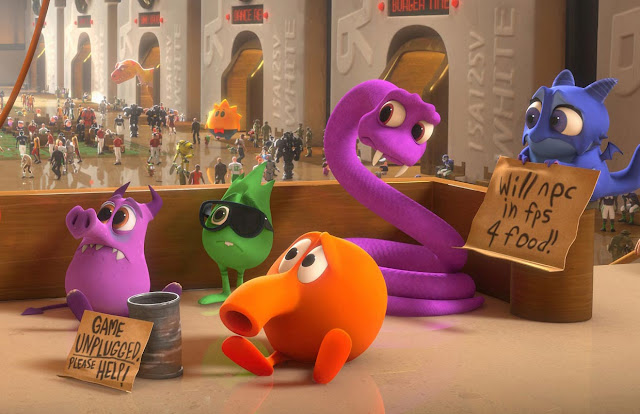 Q*bert characters in Wreck-It Ralph