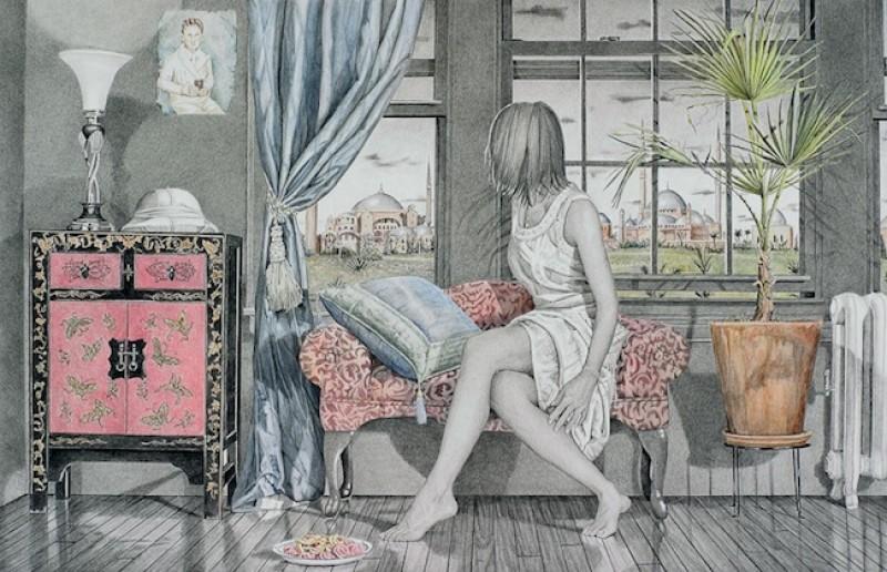 Kay Ruane 1956 ~ American painter | Outside the window