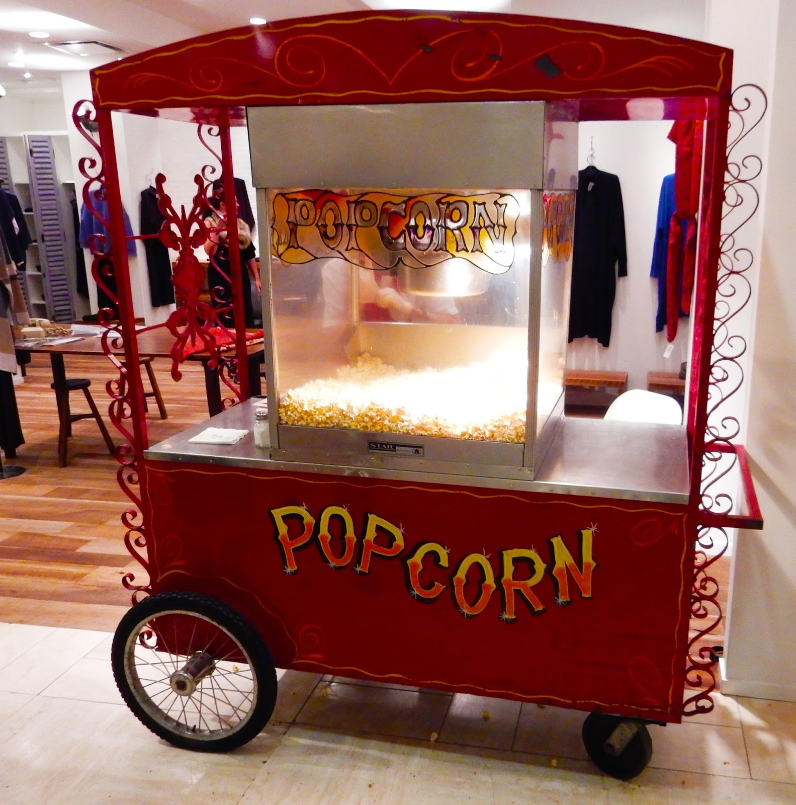 Fresh Hot Popcorn Cart CUSP party Beverly Hills