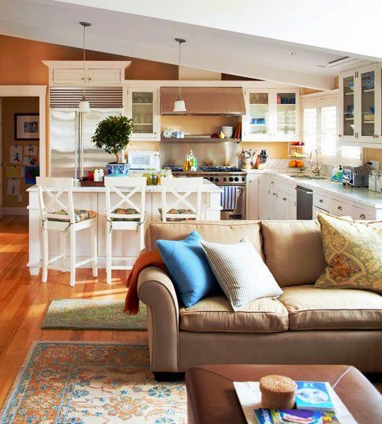 Small Open Kitchen Living Room Open Concept Kitchen Floor: Open Concept Love
