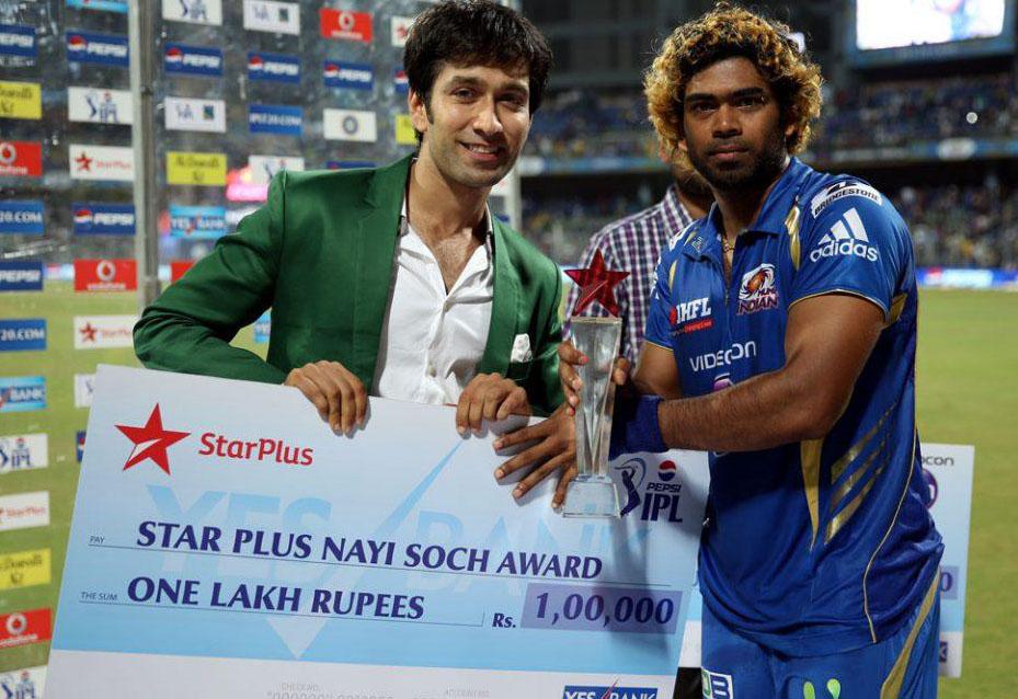 Lasith-Malinga-Star-plus-nayi-soch-award-MI-vs-CSK-IPL-2013