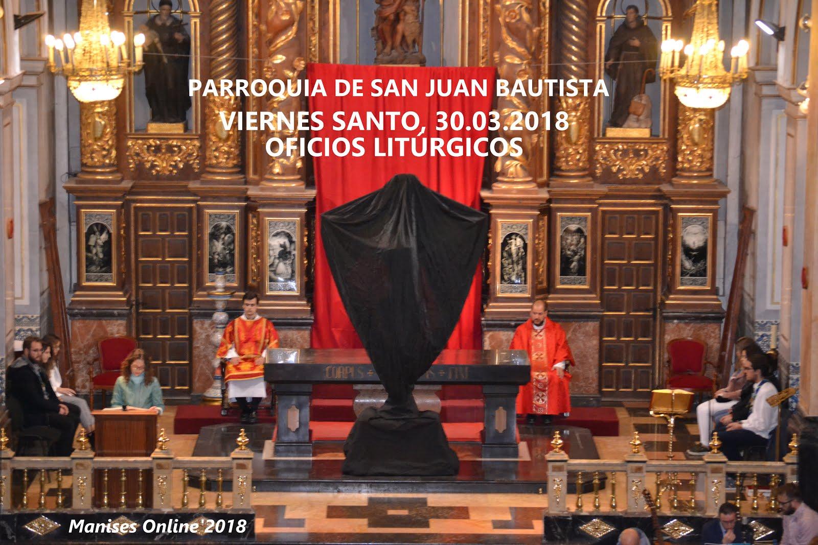 30.03.18 SEMANA SANTA MANISERA 2018: OFICIOS DEL VIERNES SANTO