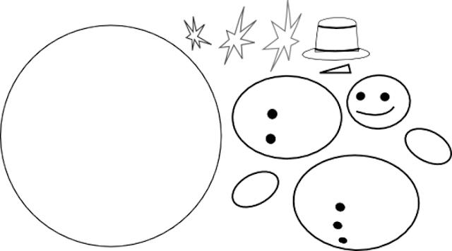 patron fieltro navidad muñeco de nieve
